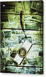 Old Retro Film Camera In Creative Composition Acrylic Print