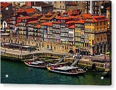 Old Ribeira Porto  Acrylic Print by Carol Japp