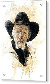 Old Rider Acrylic Print by Debra Jones