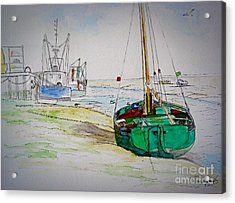 Old River Thames Fishing Boat Acrylic Print
