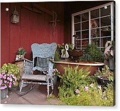 Old Rockin' Chair Acrylic Print