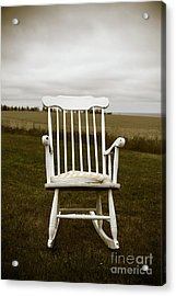 Old Rocking Chair In A Field Pei Acrylic Print