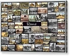 Old Rome Collage Acrylic Print by Janos Kovac