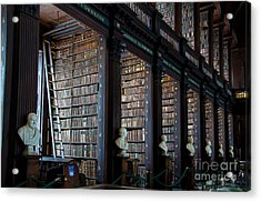 Old Room In The Trinity College Library In Dublin Acrylic Print