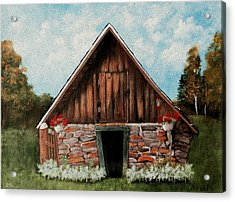 Old Root House Acrylic Print by Anastasiya Malakhova