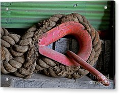 Old Rope And Shackle Acrylic Print