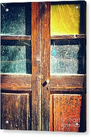 Old Rotten Door Acrylic Print