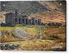 Old Ruin At Cwmorthin Acrylic Print by Adrian Evans
