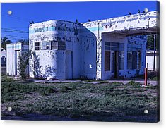 Old Run Down Gas Station Acrylic Print by Garry Gay