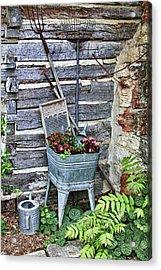 Old Rural Garden Scene Acrylic Print by Linda Phelps