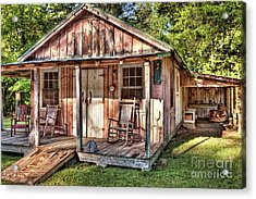 Acrylic Print featuring the photograph Old Rustic House In The Mountains by Dan Carmichael
