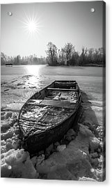Acrylic Print featuring the photograph Old Rusty Boat by Davorin Mance
