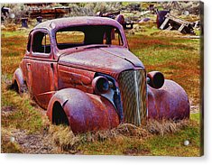 Old Rusty Car Bodie Ghost Town Acrylic Print by Garry Gay