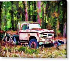Old Rusty Truck Acrylic Print by Lanjee Chee