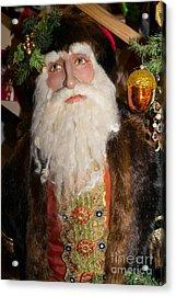 Old Saint Nick In Petaluma California Usa Dsc3765 Acrylic Print by Wingsdomain Art and Photography