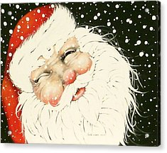 Old Saint Nick Acrylic Print by Paula Weber