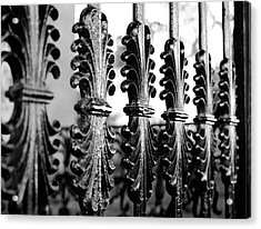 Old Salem Gate Acrylic Print by Corinne Rhode