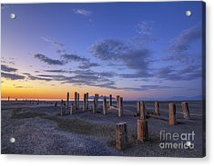 Old Saltair Posts At Sunset Acrylic Print