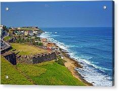 Old San Juan Coastline Acrylic Print