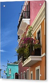 Acrylic Print featuring the photograph Old San Juan by Patrick Downey