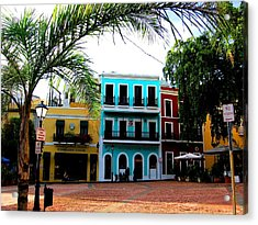 Acrylic Print featuring the photograph Old San Juan Pr by Michelle Dallocchio