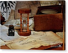 Old School Charts And Graphs 13935  Acrylic Print by Anna Gibson
