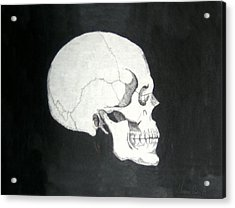 Old School Skull Acrylic Print