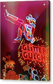Old School Vegas Acrylic Print by JAMART Photography