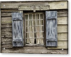 Old Schoolhouse Window Acrylic Print by Frank Russell