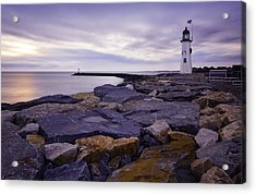 Old Scituate Light At Sunrise Acrylic Print