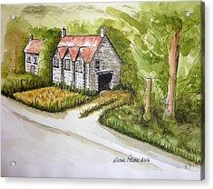 Old Scottish Stone Barn Acrylic Print by Diane Palmer