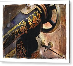 Old Sewing Machine Acrylic Print by Bob Salo