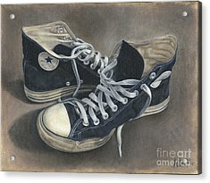 Old Shoes Acrylic Print by Ada Martinez