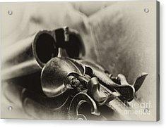 Old Shotgun Acrylic Print by Wilma  Birdwell
