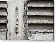 Acrylic Print featuring the photograph Old Shutters by Elena Elisseeva