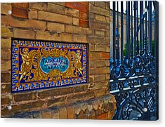 Old Sign Outside The Royal Tobacco Acrylic Print by Panoramic Images