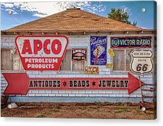 Old Signs Tucumcari Trading Post Acrylic Print by Diana Powell