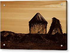 Acrylic Print featuring the photograph Old Silo by Kathleen Stephens