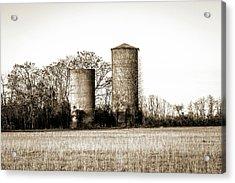 Old Silos Acrylic Print