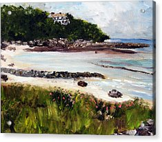 Old Silver Beach Falmouth Acrylic Print by Michael Helfen