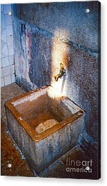 Old Sink Acrylic Print by Andrea Simon