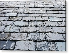 Old Slate Tiles Acrylic Print by Tom Gowanlock