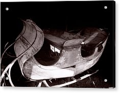 Old Sled  Acrylic Print by George Oze