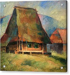 Old Small House Acrylic Print by Arthur Braginsky