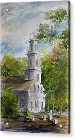 Old St. David's In The Fall Acrylic Print