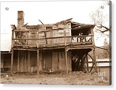 Old Stagecoach Stop Acrylic Print by Marie Neder
