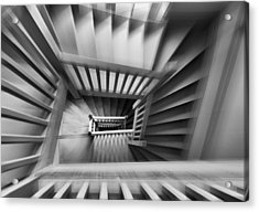 Old Staircase Acrylic Print by Henk Van Maastricht