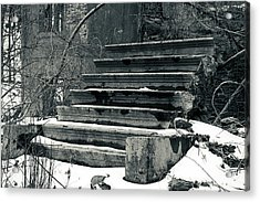 Old Stairs To Nowhere Acrylic Print by Jeff Severson