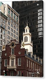 Old State House Acrylic Print by John Rizzuto