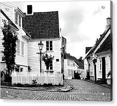 Old Stavanger I Acrylic Print by Helene Sobol